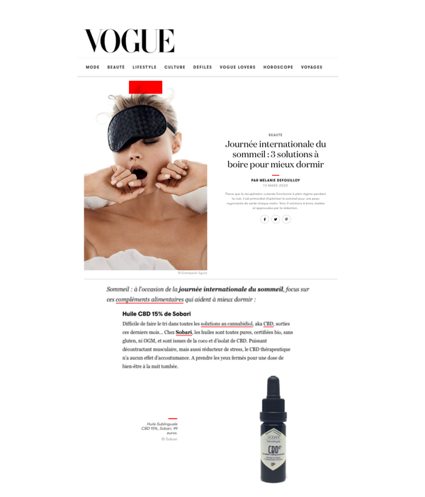 Publication web VOGUE.fr CBD SOBARI